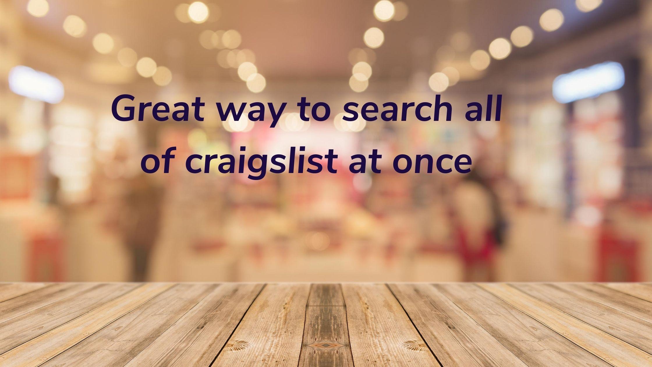 search all craigslist